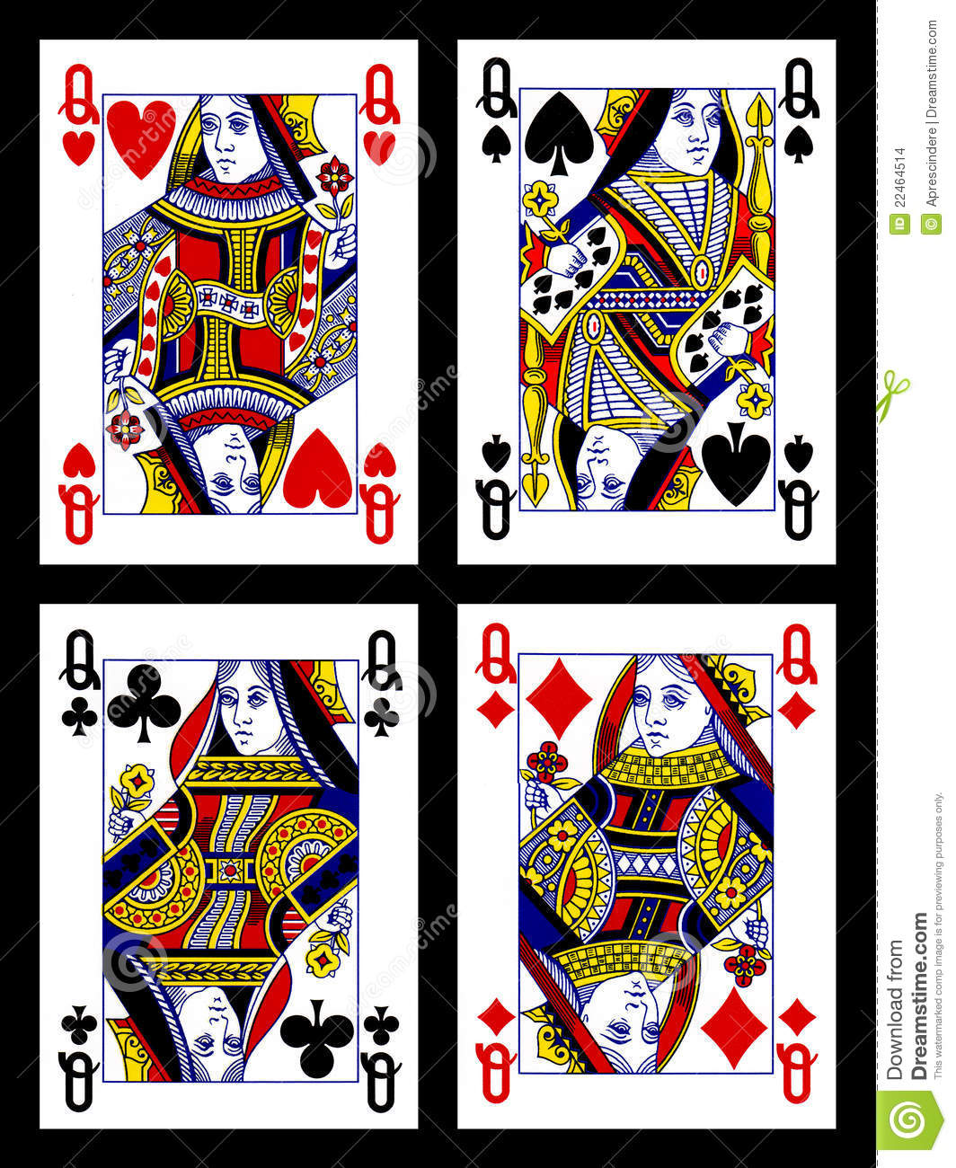 Deck of cards queens