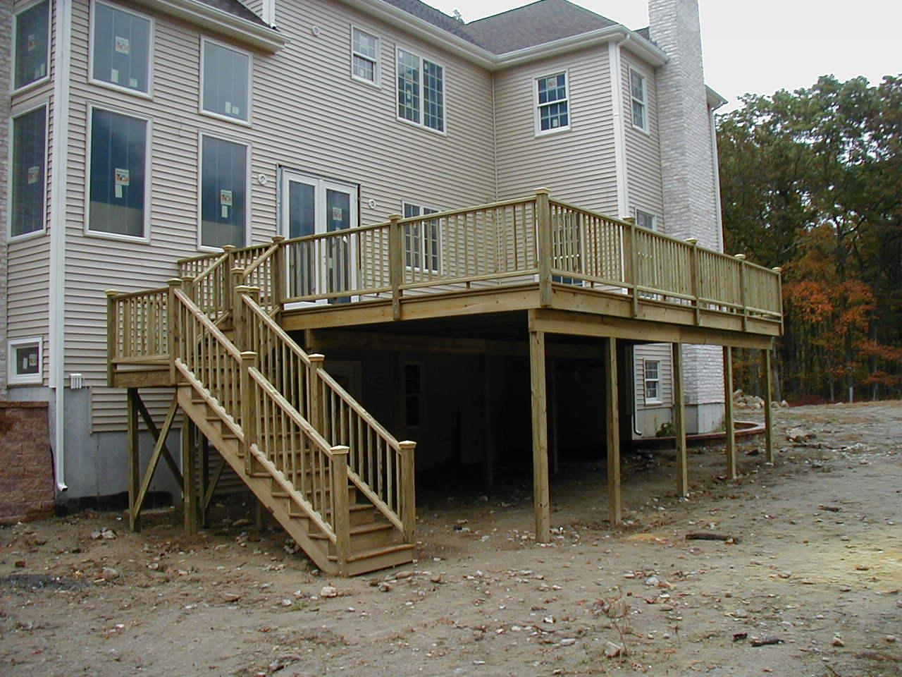 Deck of house