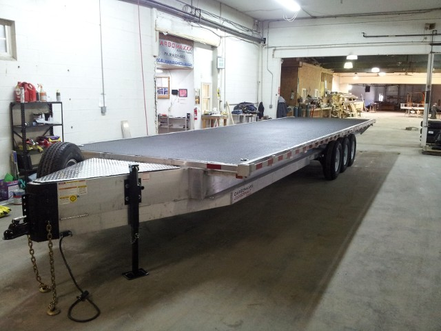Deck over aluminum trailer