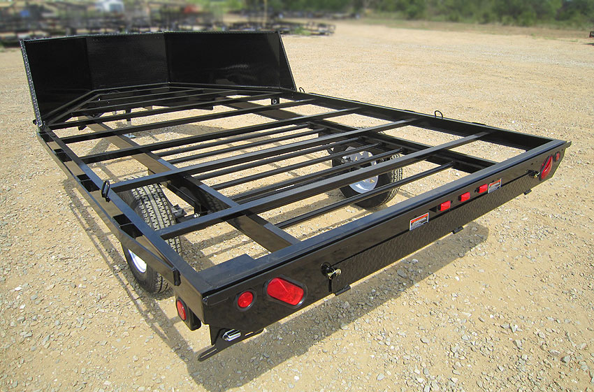 Deck over trailer design