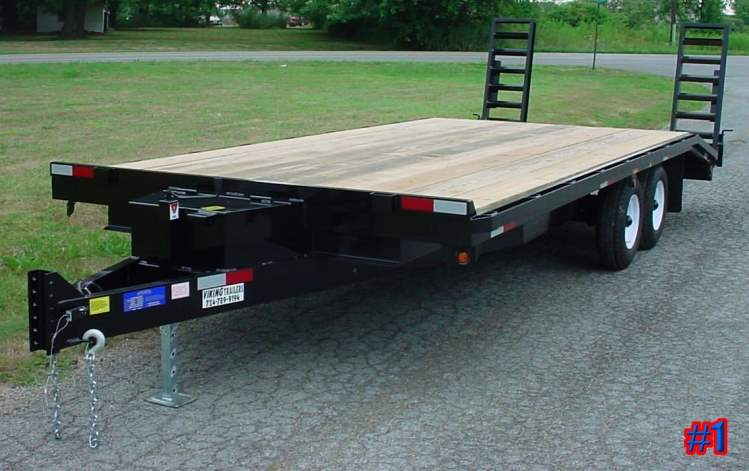 Deck over wheels trailer