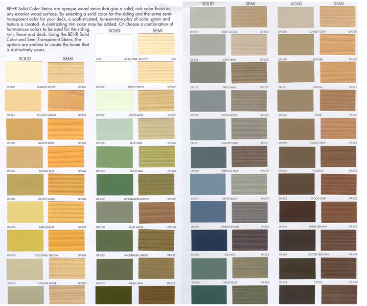 Deck paint colors home depot
