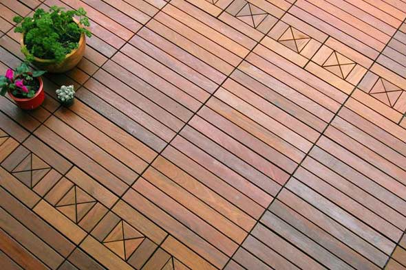 Deck patio flooring