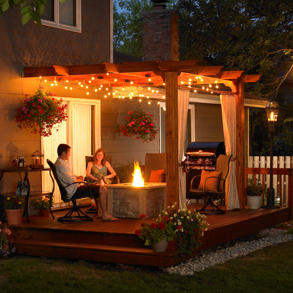 Deck pergola lighting