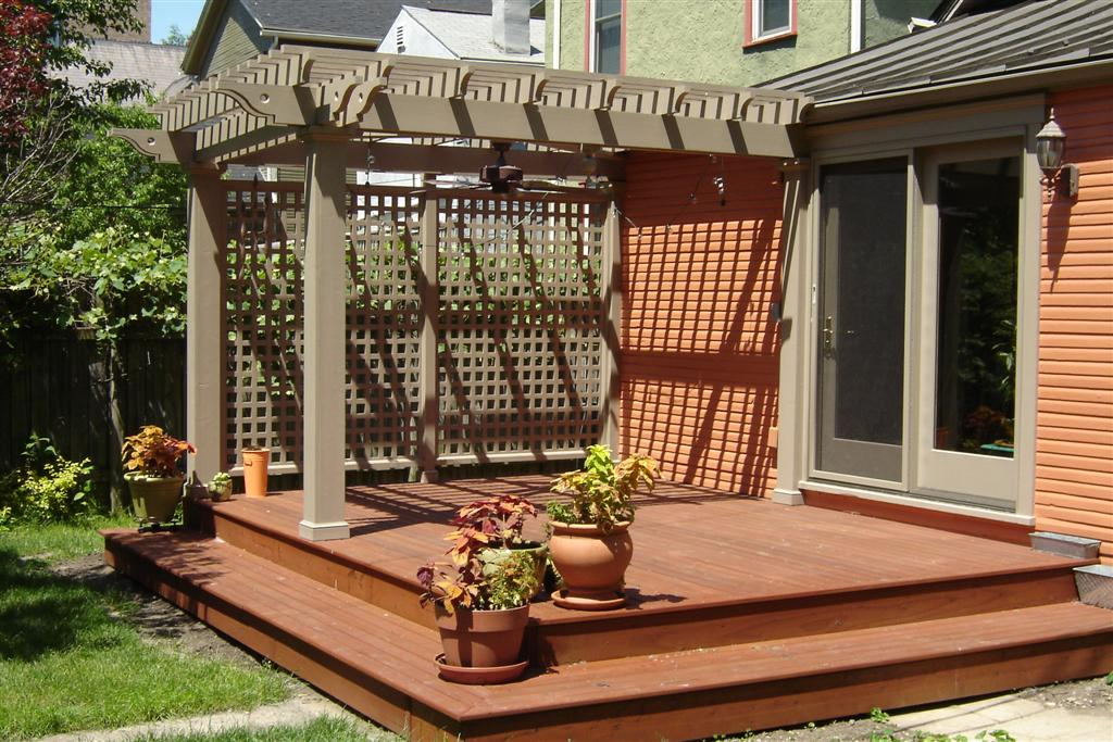 Deck plans with a pergola