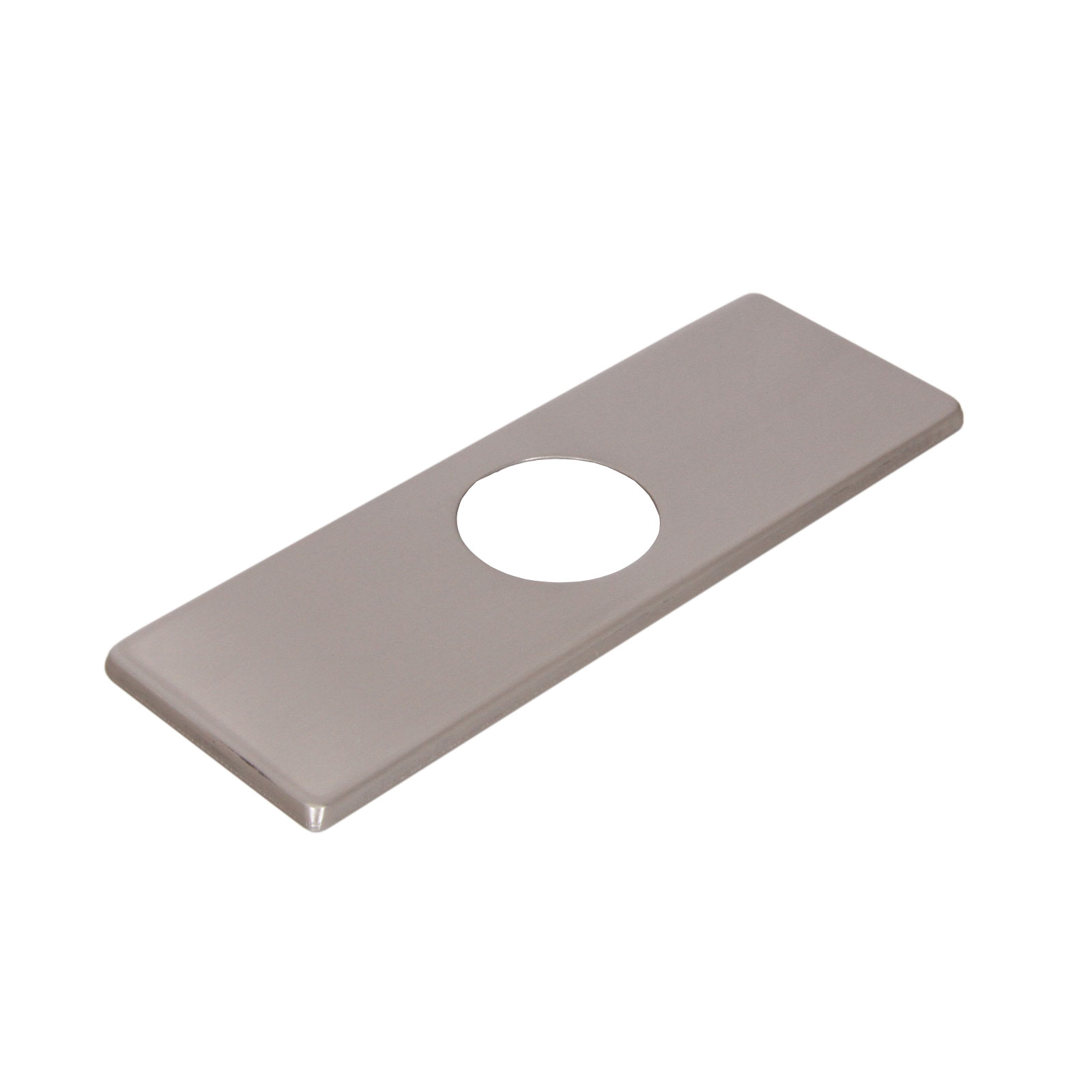 Deck plate for bathroom faucet