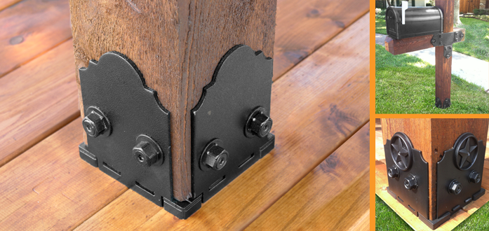 Deck post brackets 6×6