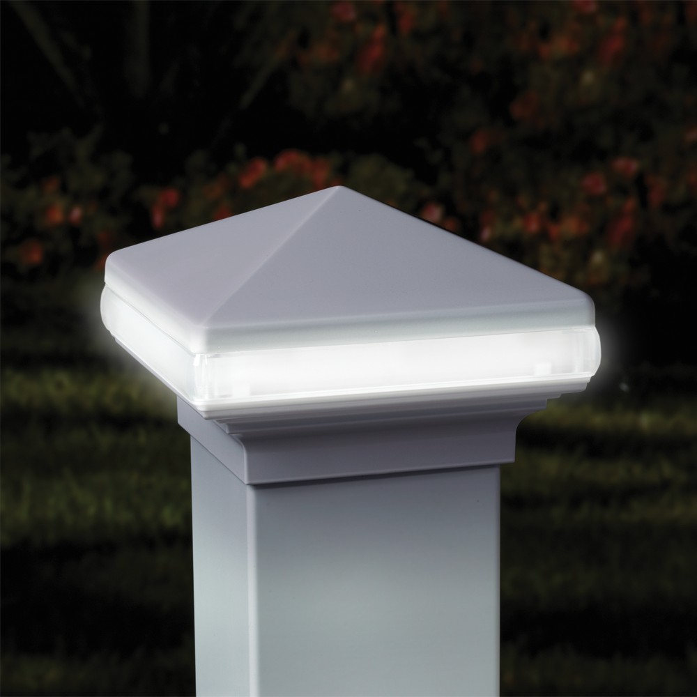 Deck post cap lights low voltage