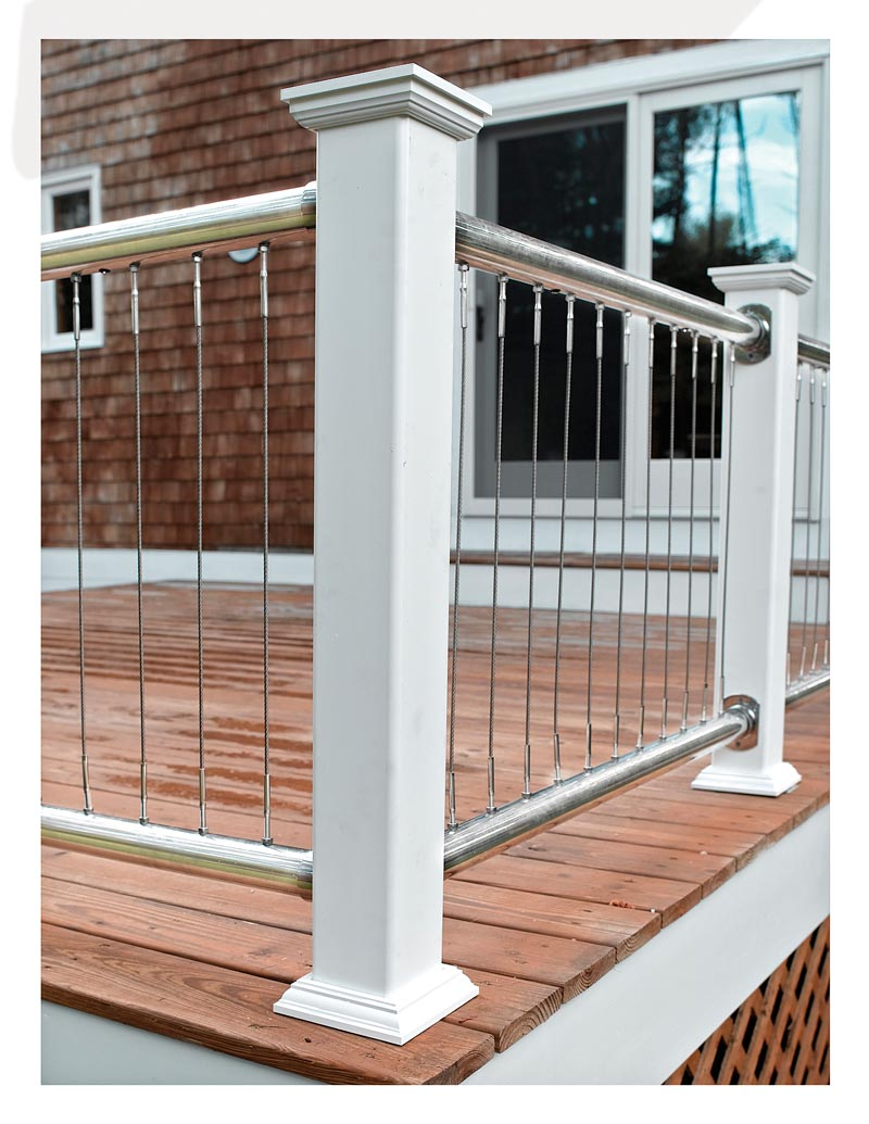 Deck post for cables