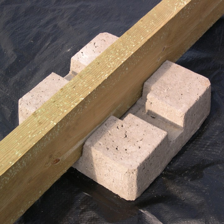 Deck post pier blocks