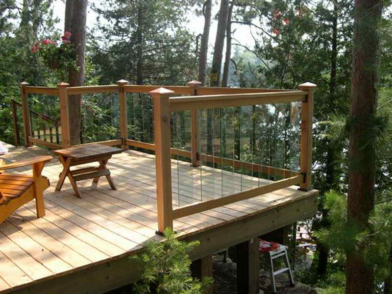 Deck post railing brackets