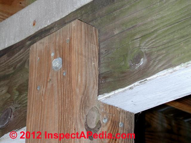 Deck post replacement