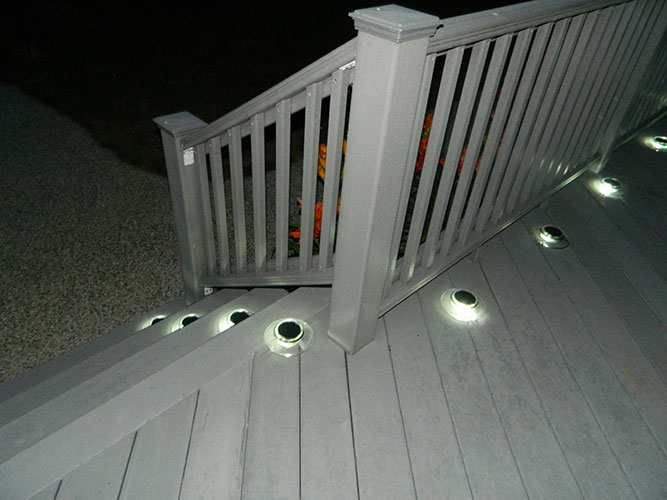 Deck post solar lights costco