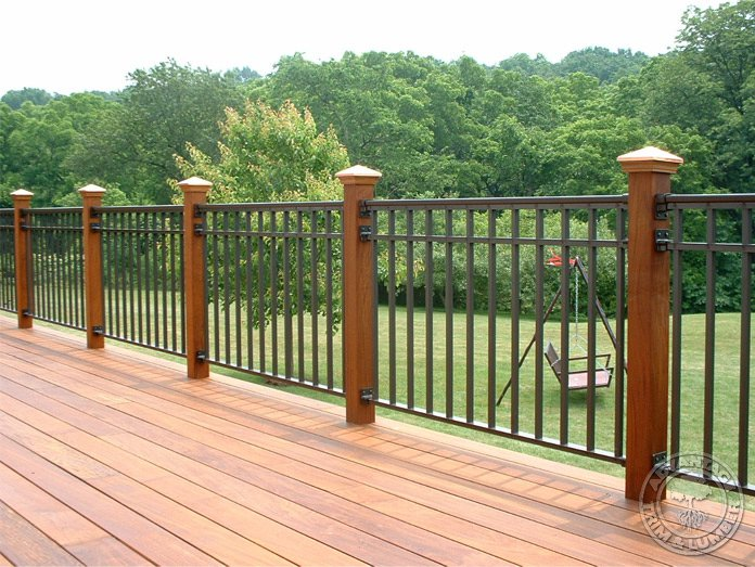 Deck post wood