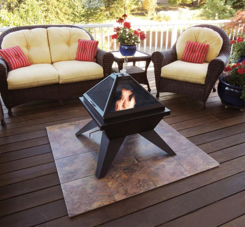 Deck protector for fire pit