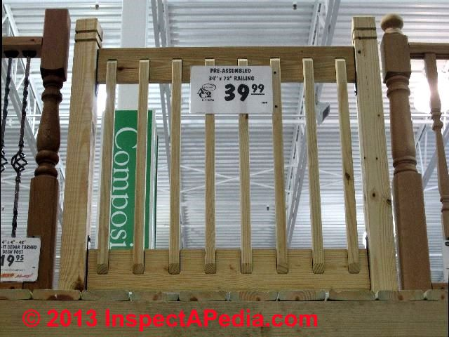 Deck rail baluster spacing