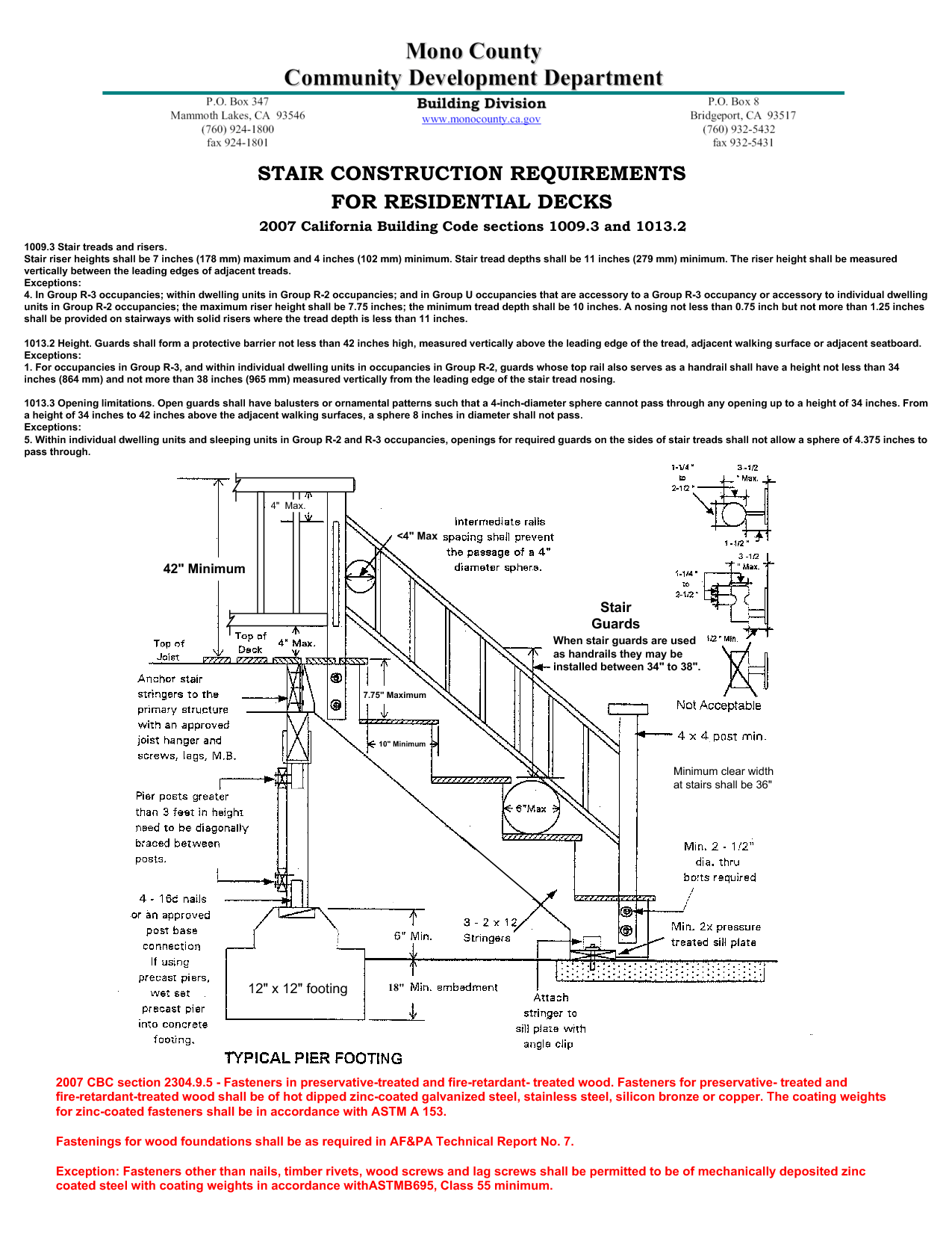 California Building Code Deck Railing Height