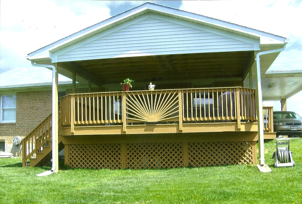 Deck railing installation ideas