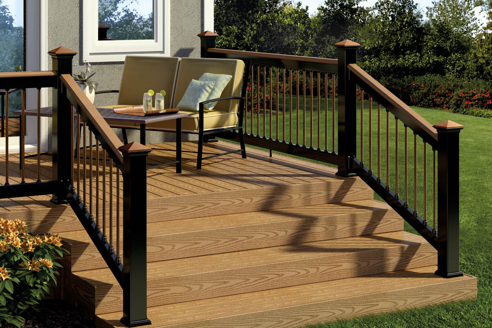Deck railing post caps