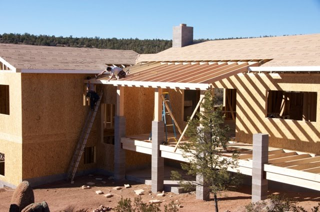 Deck roof framing