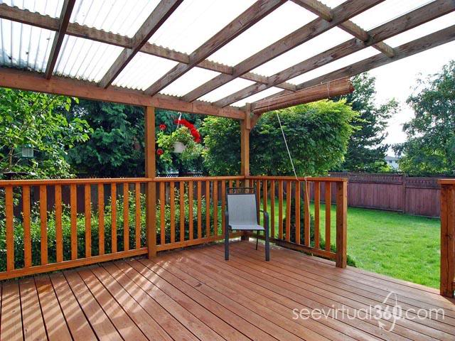 Deck roof material options