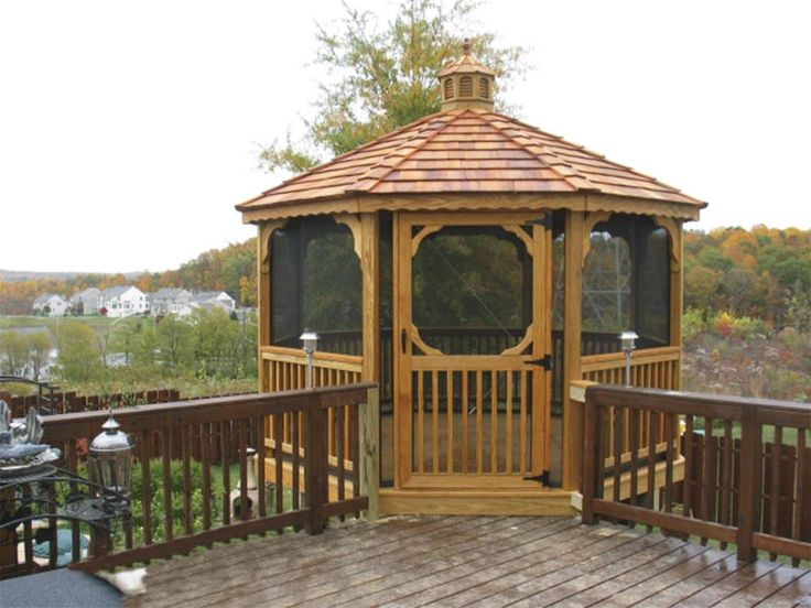 Deck screened gazebo