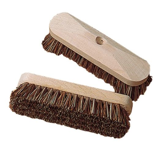 Deck scrubber brush