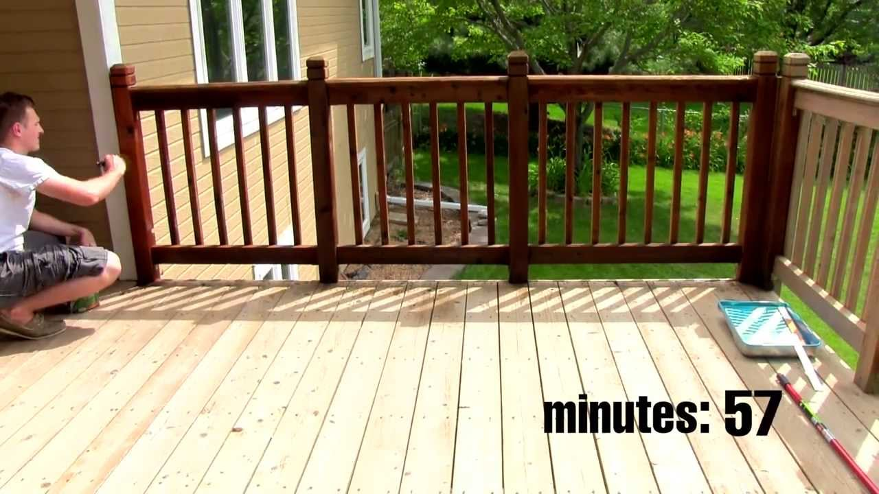 Deck stain spray vs brush