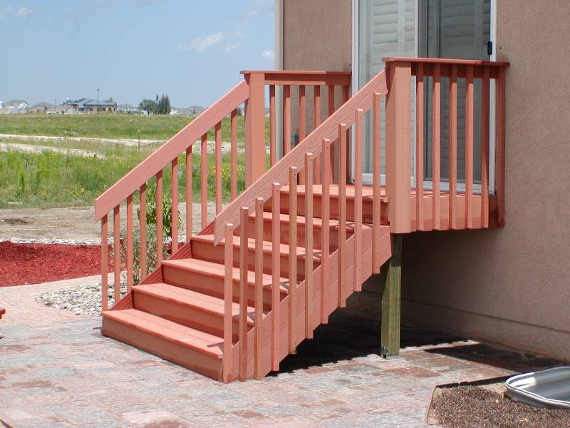 Deck stair handrail kit
