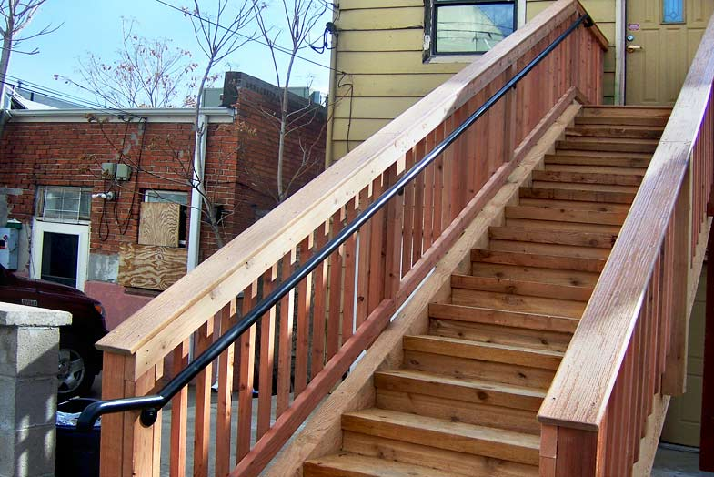 Deck stair handrail pictures