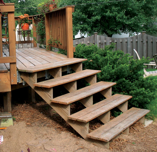Deck steps how to