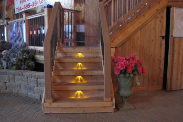Deck steps lights