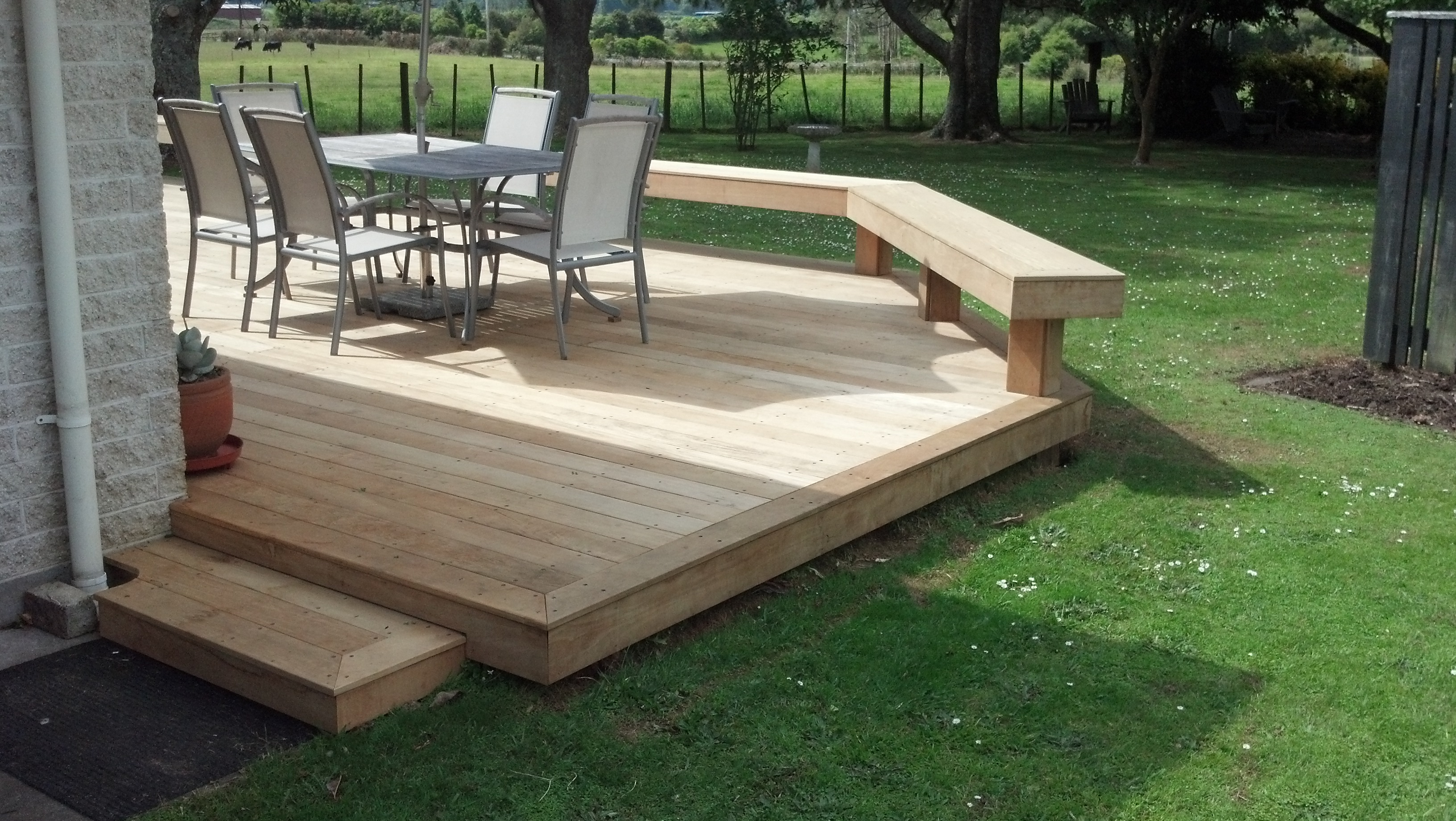 Deck stairs designs with railing deck design and ideas for Cheap designer furniture nz