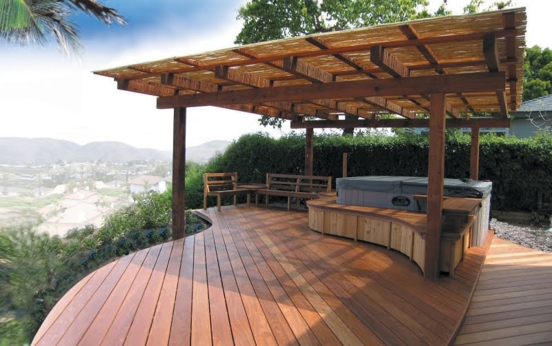 Deck with patio designs