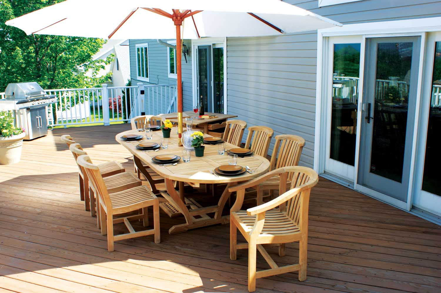 Deck wood furniture