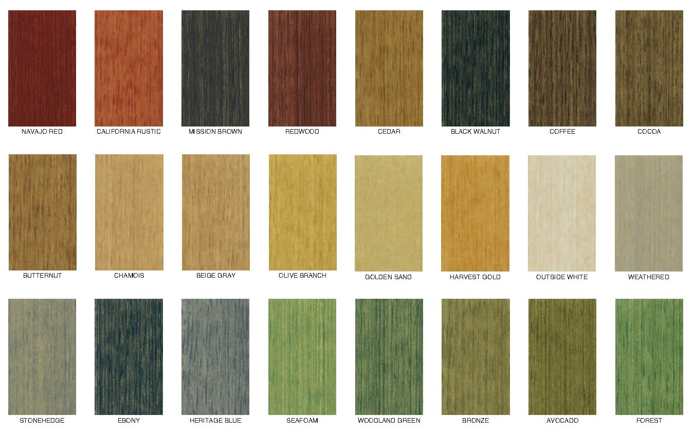 Deck wood stain colors