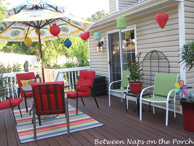 Decorating a deck or patio