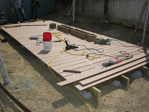 Diy deck foundation