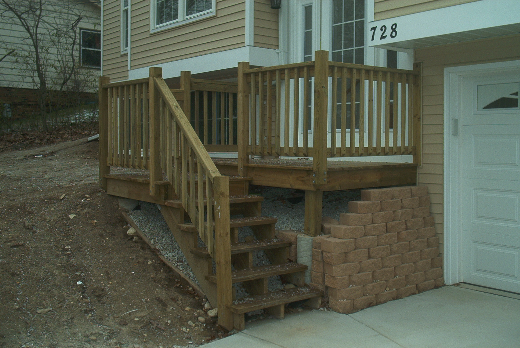 Elevated deck footings