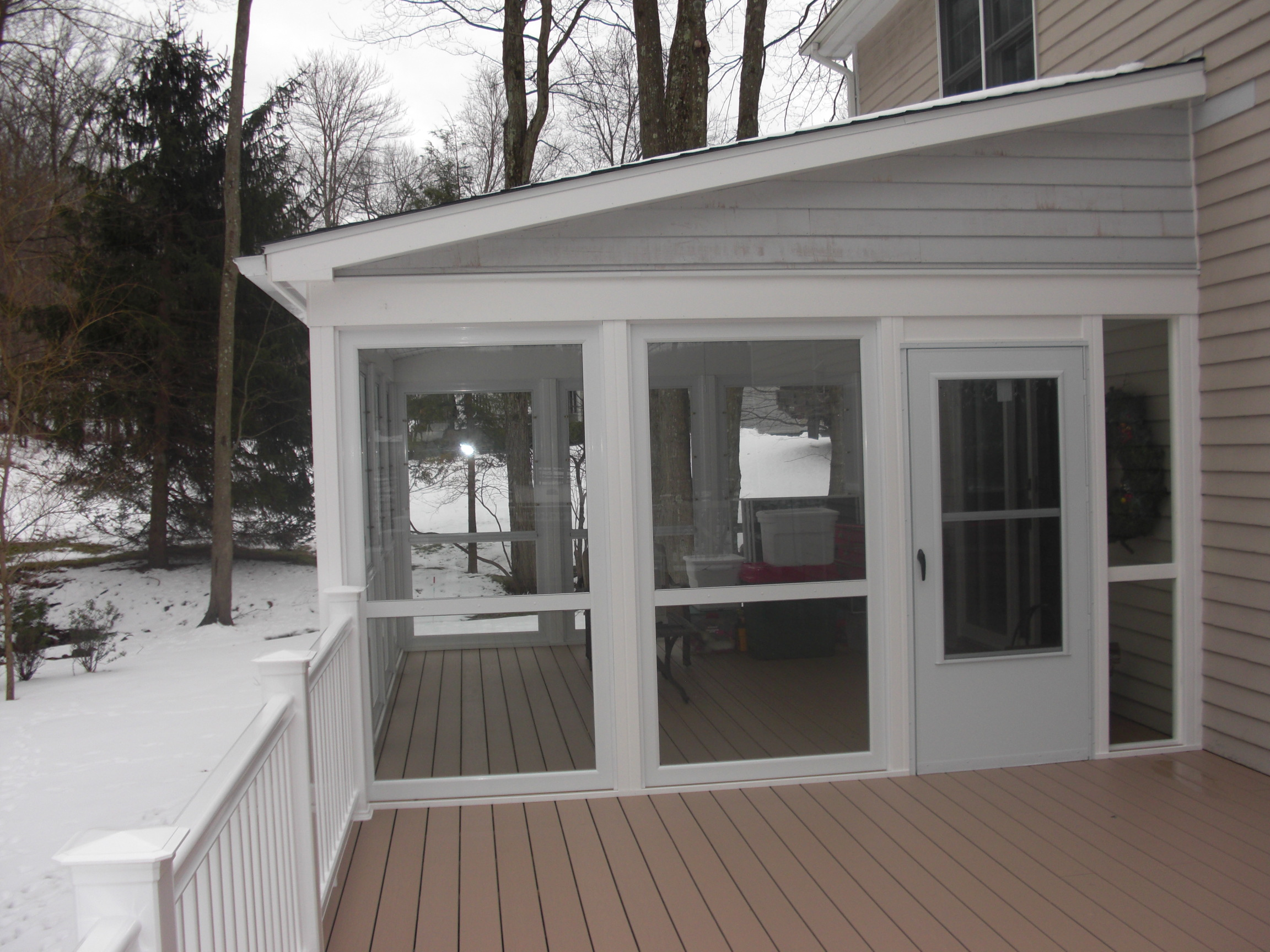 Enclosing a covered deck