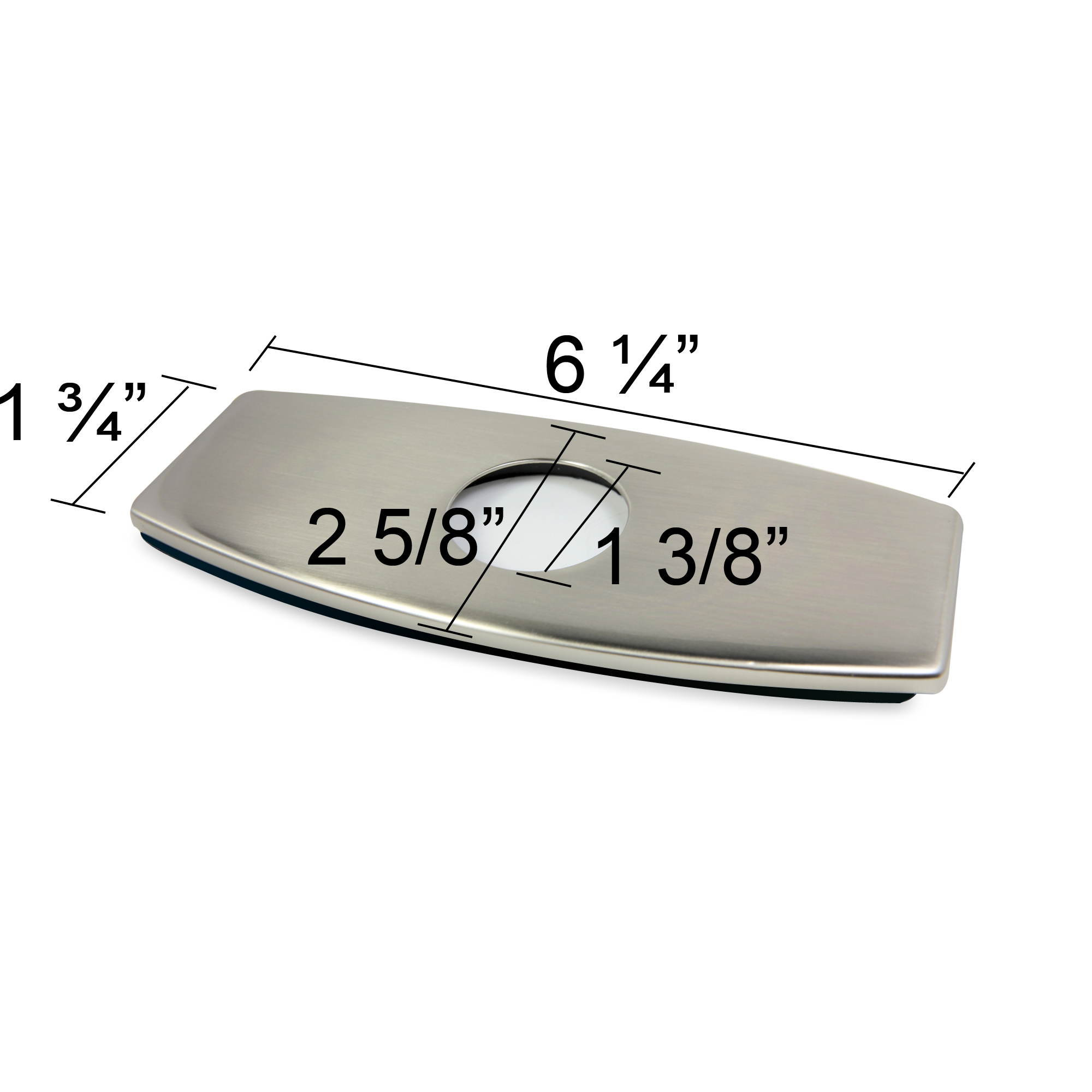 Faucet deck plate brushed nickel