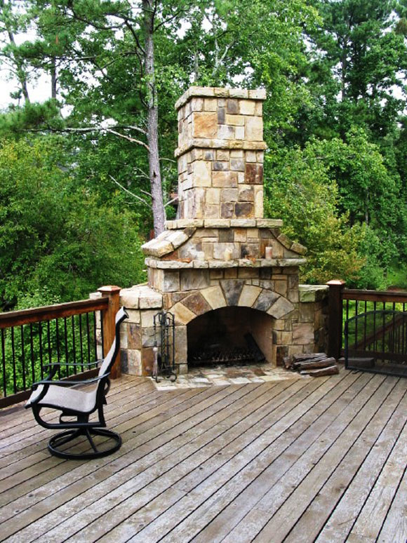 Fireplace for deck
