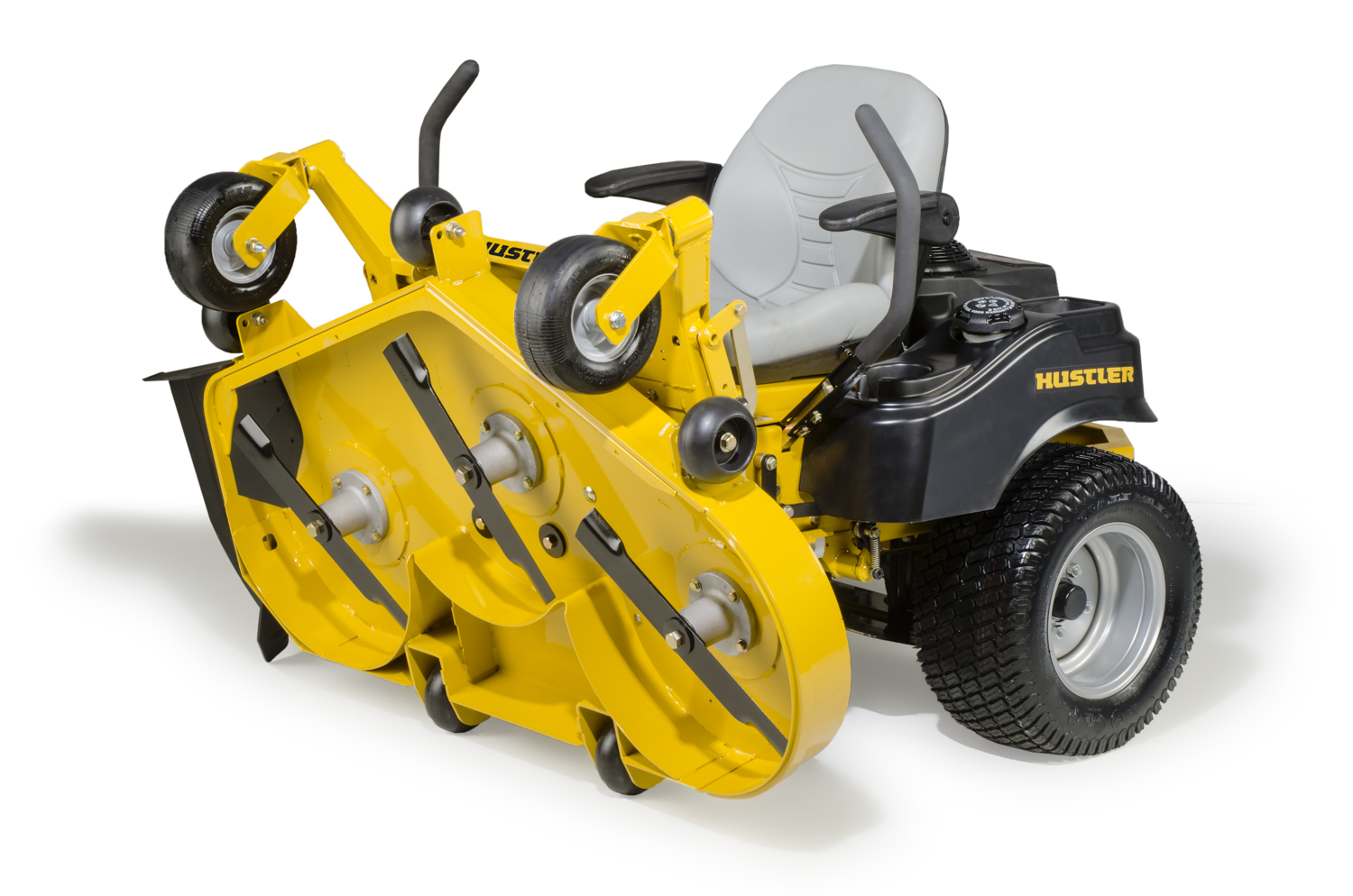 Flip up deck mower