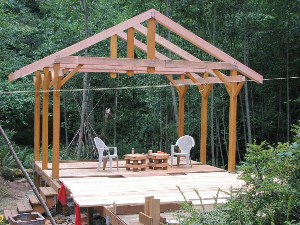 Framing a covered deck