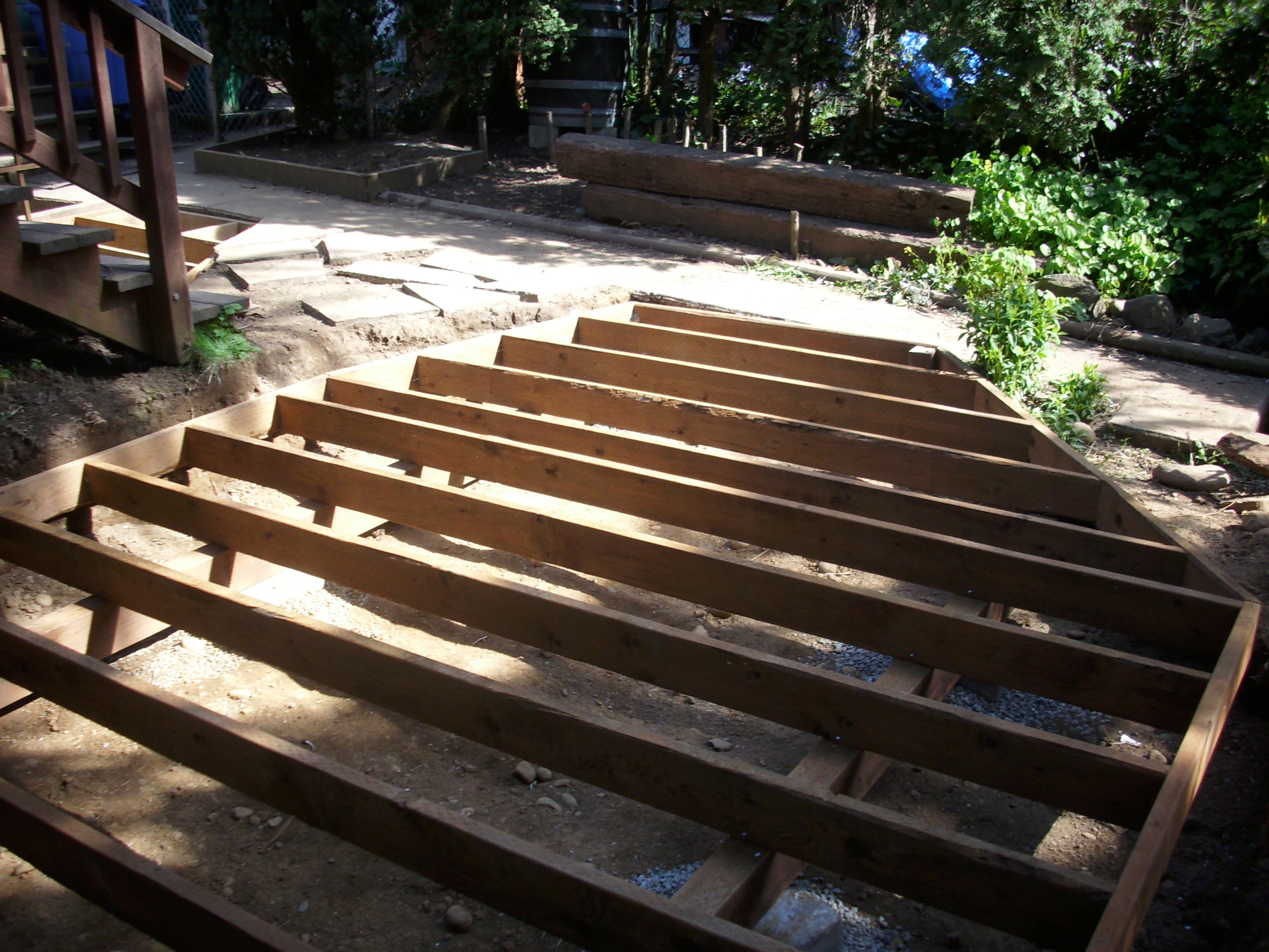 how to build a decking frame youtube