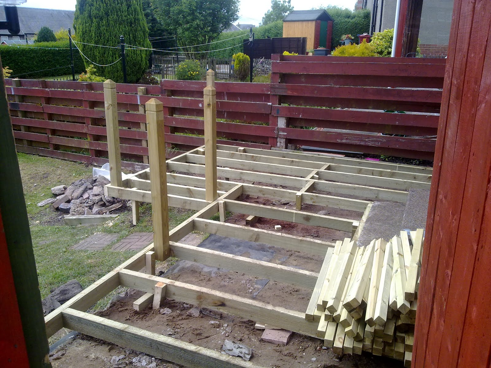 Garden deck construction