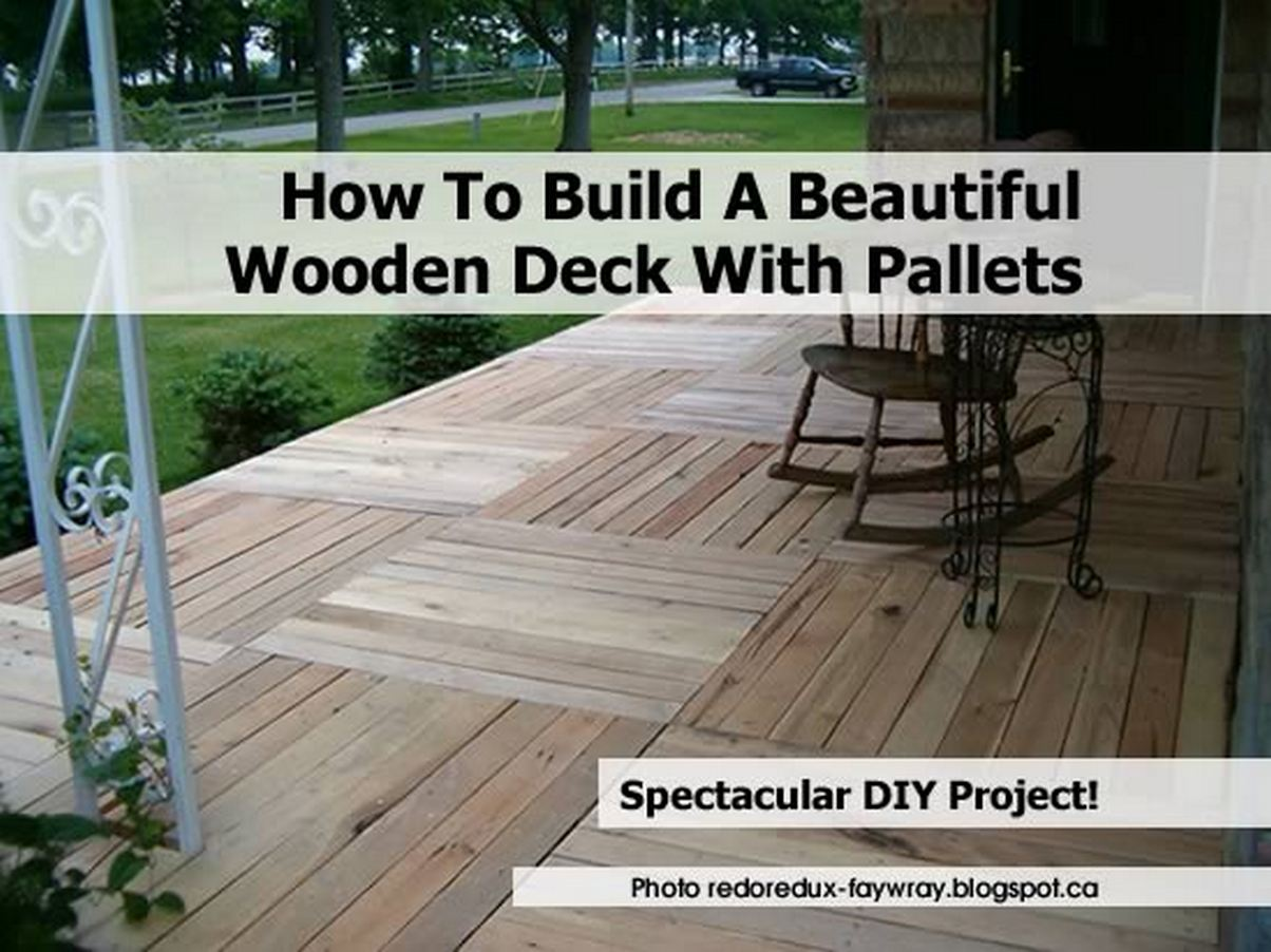 Garden deck from pallets