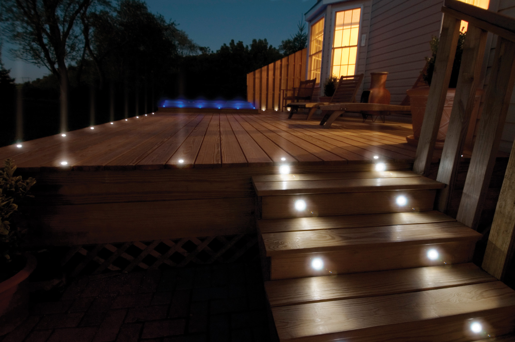 Garden deck lighting ideas