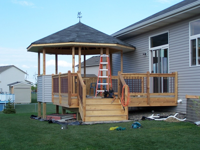 Gazebo over deck