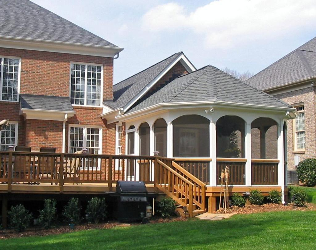Gazebo porch house plans